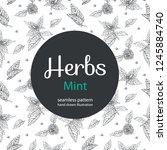 vector floral seamless pattern... | Shutterstock .eps vector #1245884740