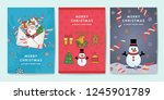 set of christmas flyer design... | Shutterstock .eps vector #1245901789