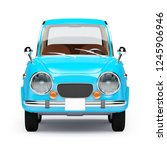 retro car blue in 60s style ... | Shutterstock . vector #1245906946