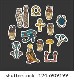 Stickers Set Of Ancient...