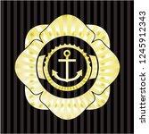 anchor icon inside shiny emblem   Shutterstock .eps vector #1245912343