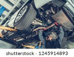 automotive mechanic job.... | Shutterstock . vector #1245914893