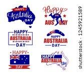australia badges set. australia ... | Shutterstock .eps vector #1245921589
