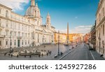 aerial view of navona square in ... | Shutterstock . vector #1245927286
