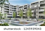 modern apartment buildings in a ... | Shutterstock . vector #1245939043