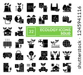 ecology glyph icon set ... | Shutterstock .eps vector #1245941116