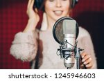 necessary thing for recording... | Shutterstock . vector #1245946603