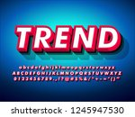 modern strong 3d red font... | Shutterstock .eps vector #1245947530