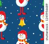 seamless vector pattern with... | Shutterstock .eps vector #1245956689