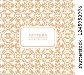 decorative elegant ornamental... | Shutterstock .eps vector #1245958996