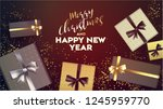 christmas. merry christmas and... | Shutterstock .eps vector #1245959770