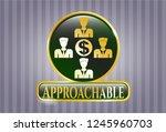 golden emblem or badge with... | Shutterstock .eps vector #1245960703