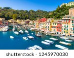 beautiful sea coast with... | Shutterstock . vector #1245970030