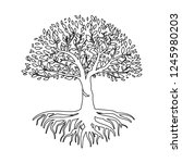 tree vector illustration. tree...   Shutterstock .eps vector #1245980203