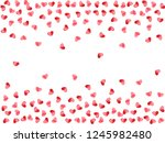 heart scatter falling on white... | Shutterstock .eps vector #1245982480