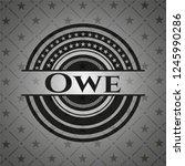 owe realistic black emblem   Shutterstock .eps vector #1245990286