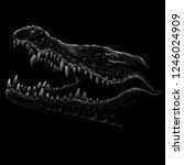 the vector logo crocodile for... | Shutterstock .eps vector #1246024909