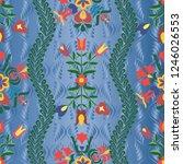 hungarian stylized seamless... | Shutterstock .eps vector #1246026553