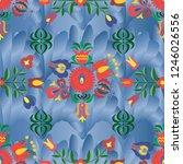hungarian stylized seamless... | Shutterstock .eps vector #1246026556