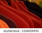 small part of colorful fleece... | Shutterstock . vector #1246026943
