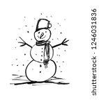 black brush and ink artistic...   Shutterstock . vector #1246031836