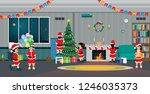children are holding a... | Shutterstock .eps vector #1246035373