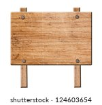 wood sign isolated on white... | Shutterstock . vector #124603654