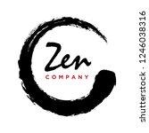 japanese calligraphic circle ... | Shutterstock .eps vector #1246038316