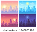 daytime cityscape. morning  day ... | Shutterstock .eps vector #1246039906