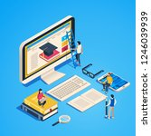 isometric online teaching.... | Shutterstock .eps vector #1246039939