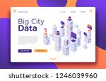 smart city landing. business... | Shutterstock .eps vector #1246039960