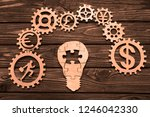 electric light bulb made of... | Shutterstock . vector #1246042330