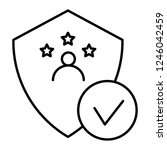 verified user thin line icon.... | Shutterstock .eps vector #1246042459
