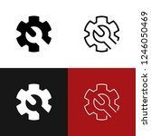 customize icon set | Shutterstock .eps vector #1246050469
