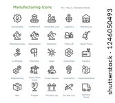 manufacturing icons   outline... | Shutterstock .eps vector #1246050493