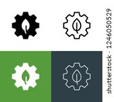 green manufacturing icon set | Shutterstock .eps vector #1246050529