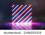 light abstract neon background ... | Shutterstock . vector #1246055329