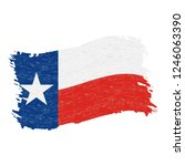 flag of texas. grunge abstract... | Shutterstock .eps vector #1246063390