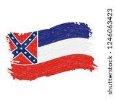 flag of mississippi. grunge...   Shutterstock .eps vector #1246063423