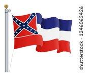 waving mississippi flag...   Shutterstock .eps vector #1246063426