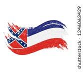 national flag of mississippi ...   Shutterstock .eps vector #1246063429
