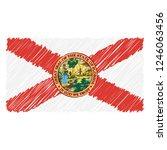 hand drawn national flag of...   Shutterstock .eps vector #1246063456