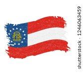 flag of georgia. grunge...   Shutterstock .eps vector #1246063459