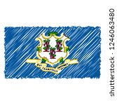 hand drawn national flag of...   Shutterstock .eps vector #1246063480
