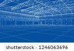 interior sketch. blueprint or... | Shutterstock . vector #1246063696