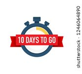 ten days to go. time icon.... | Shutterstock .eps vector #1246064890