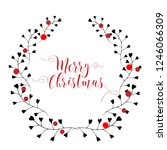 christmas card. hand drawn... | Shutterstock .eps vector #1246066309