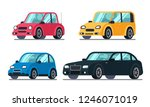 different flat cars. cheap... | Shutterstock . vector #1246071019