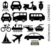 vector   transportation icons... | Shutterstock .eps vector #124608853