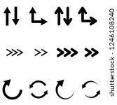 black flat arrows set. bold... | Shutterstock .eps vector #1246108240